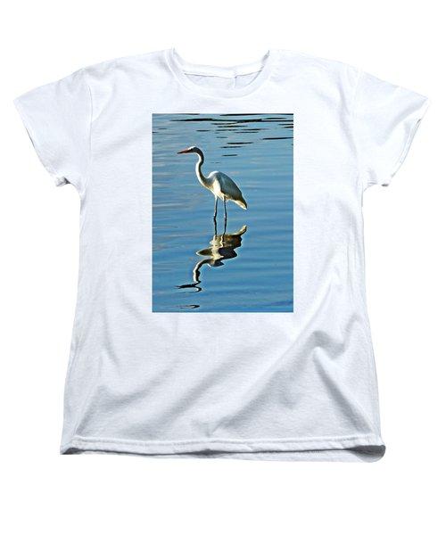 The Egret Women's T-Shirt (Standard Cut) by Allen Beilschmidt