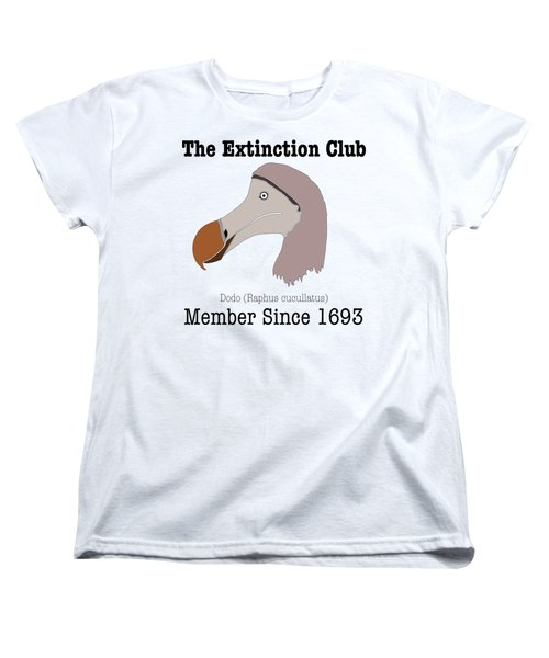 The Extinction Club - Dodo Women's T-Shirt (Standard Cut) by Marcus England