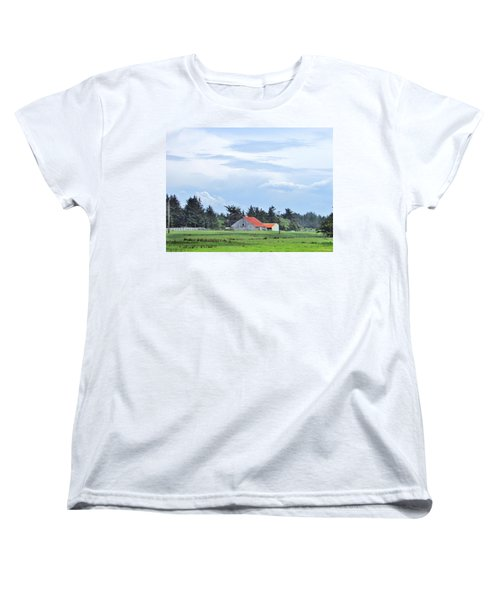 The Farm Women's T-Shirt (Standard Cut) by Marilyn Diaz