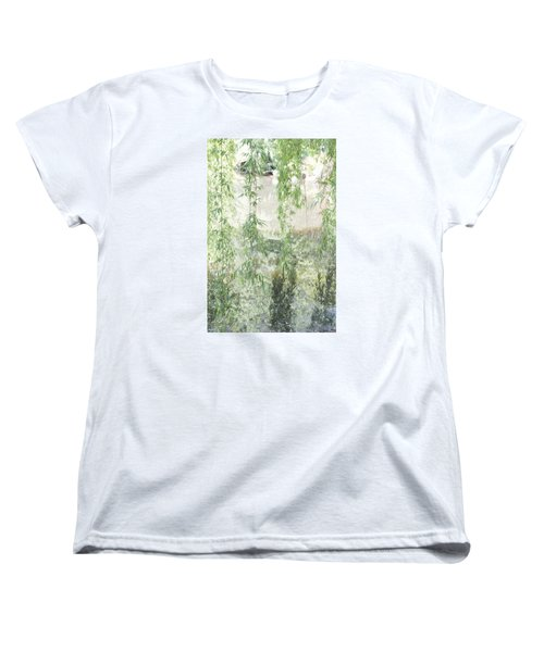 Women's T-Shirt (Standard Cut) featuring the photograph Through The Willows by Linda Geiger