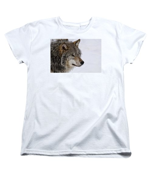 Women's T-Shirt (Standard Cut) featuring the photograph Timber Wolf by Michael Cummings