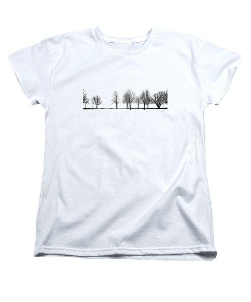 Women's T-Shirt (Standard Cut) featuring the photograph Trees by Chevy Fleet