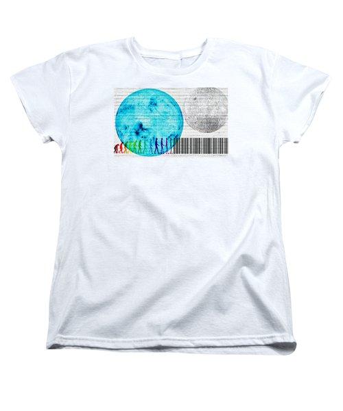 Urban Graffiti - Binary Evolution Women's T-Shirt (Standard Cut) by Serge Averbukh
