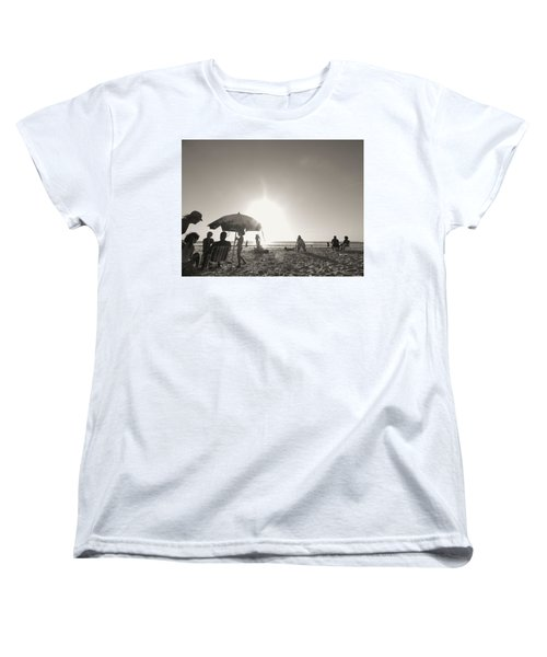 Women's T-Shirt (Standard Cut) featuring the photograph Vamos A La Playa by Beto Machado