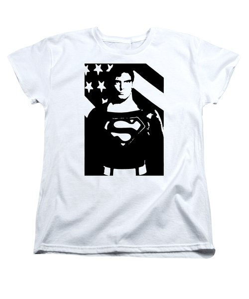 Women's T-Shirt (Standard Cut) featuring the digital art Waiting For Superman by Saad Hasnain