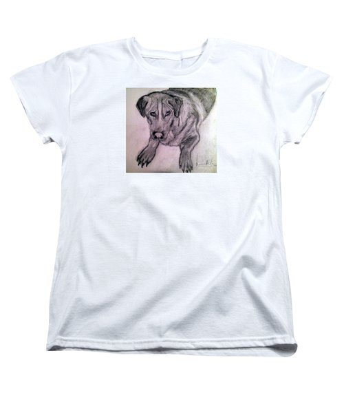 Women's T-Shirt (Standard Cut) featuring the painting Walle by Brindha Naveen