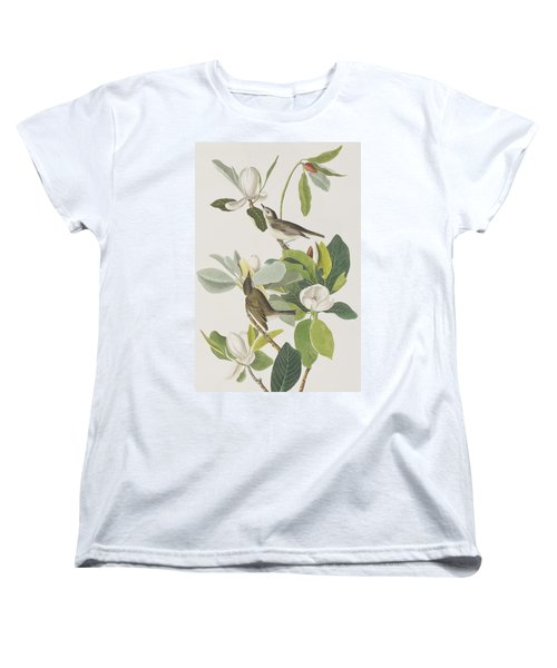 Warbling Flycatcher Women's T-Shirt (Standard Cut) by John James Audubon