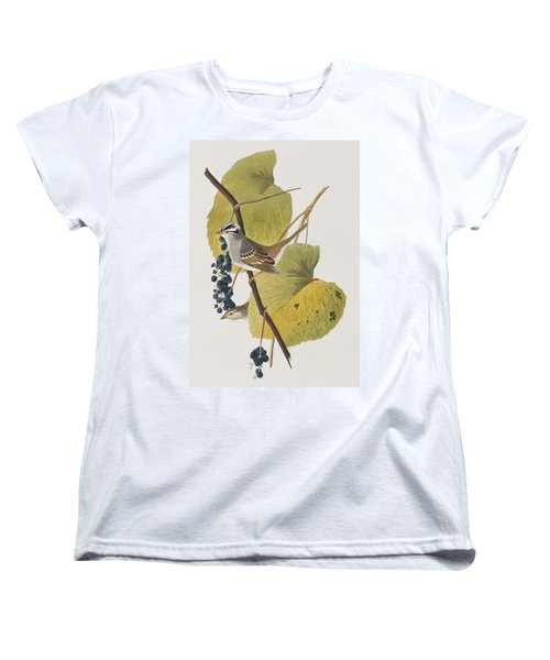 White-crowned Sparrow Women's T-Shirt (Standard Cut) by John James Audubon