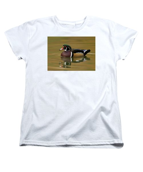 Wood Duck Women's T-Shirt (Standard Cut) by Doug Herr