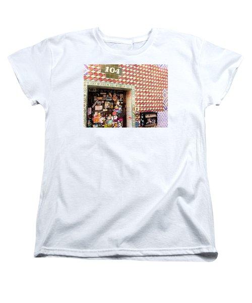 104 Brooklyn New York Door   Women's T-Shirt (Standard Cut) by Funkpix Photo Hunter