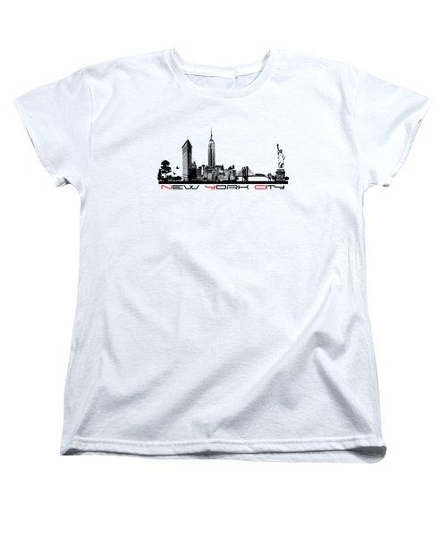 New York City Skyline  Women's T-Shirt (Standard Cut) by Justyna JBJart