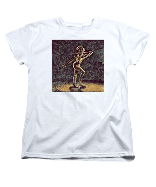 1192s-zac Nudes In The Style Of Antonio Bravo  Women's T-Shirt (Standard Cut) by Chris Maher