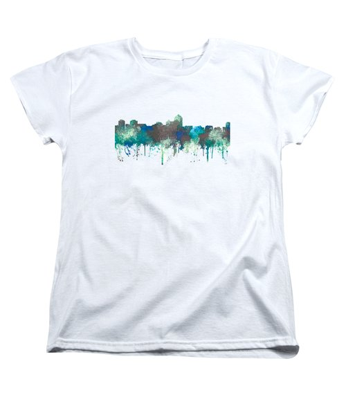 Women's T-Shirt (Standard Cut) featuring the digital art Albuquerque New Mexico Skyline by Marlene Watson
