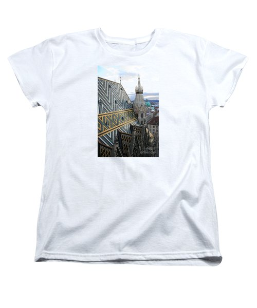 St Stephens Cathedral Vienna Women's T-Shirt (Standard Cut) by Angela Rath
