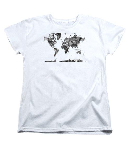 World Map Women's T-Shirt (Standard Cut)
