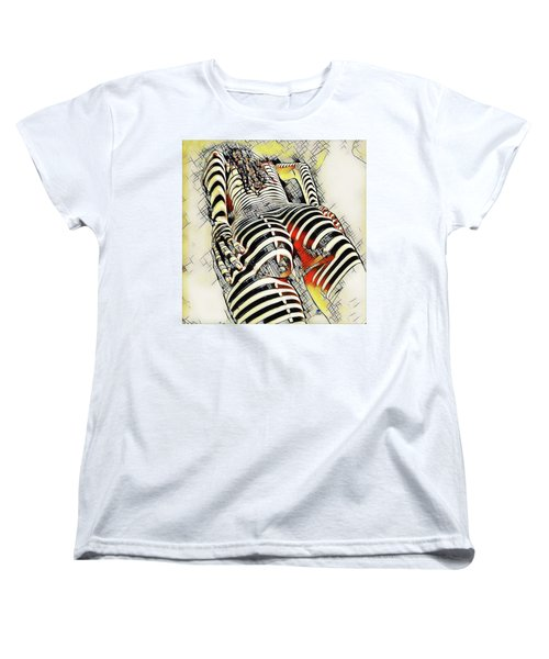 1457s-ak Rear View Nude Erotica In The Style Of Kandinsky Women's T-Shirt (Standard Cut) by Chris Maher