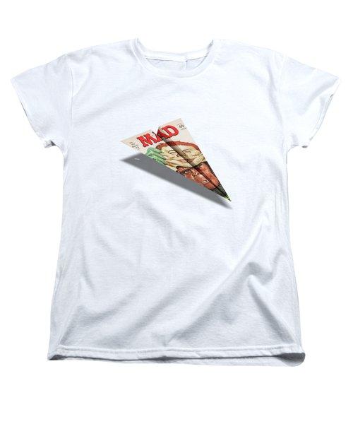 157 Mad Paper Airplane Women's T-Shirt (Standard Cut)
