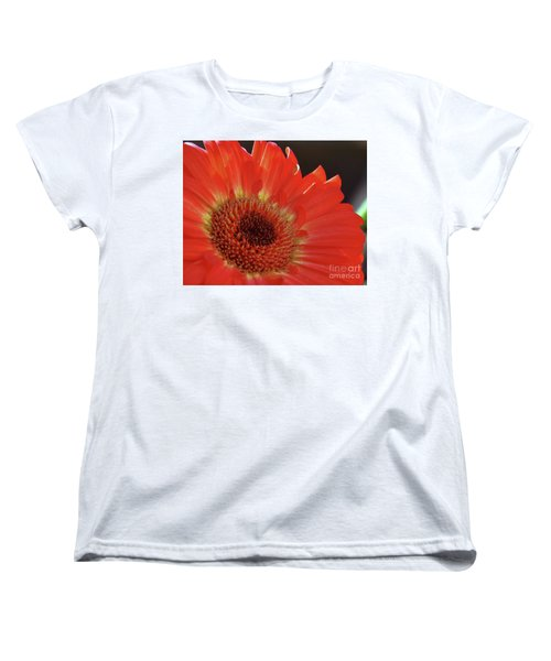 Women's T-Shirt (Standard Cut) featuring the photograph Red Gerber by Elvira Ladocki