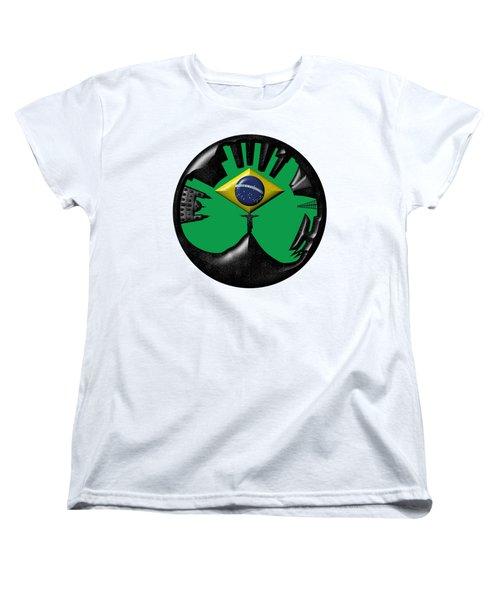 Rio De Janeiro Skyline Women's T-Shirt (Standard Cut) by Michal Boubin
