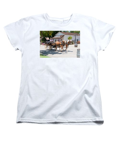 Old Town San Diego Women's T-Shirt (Standard Cut) by Carol Ailles