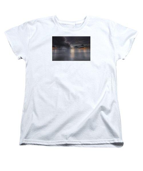 Sunst Over The Ocean Women's T-Shirt (Standard Cut) by Peter Lakomy