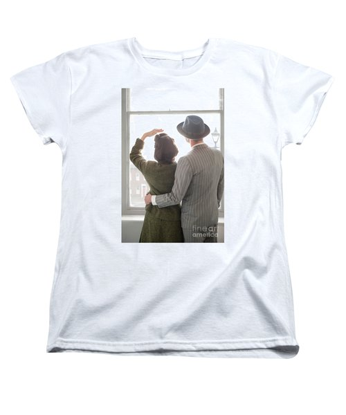 1940s Couple At The Window Women's T-Shirt (Standard Cut) by Lee Avison