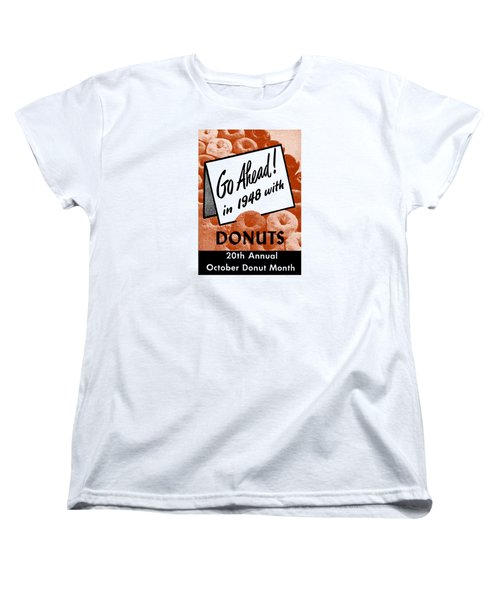 1948 Donut Poster Women's T-Shirt (Standard Cut) by Historic Image