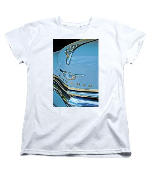 Women's T-Shirt (Standard Cut) featuring the photograph 1950 Plymouth Coupe by Linda Unger