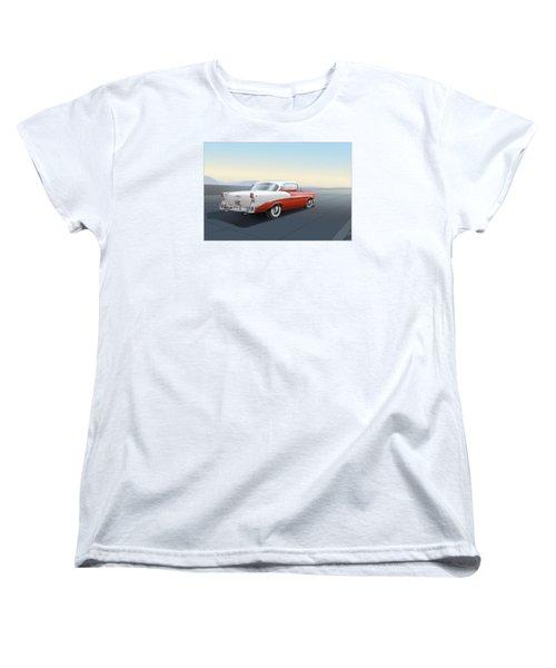 1956 Chevrolet Bel Air Women's T-Shirt (Standard Cut) by Marty Garland