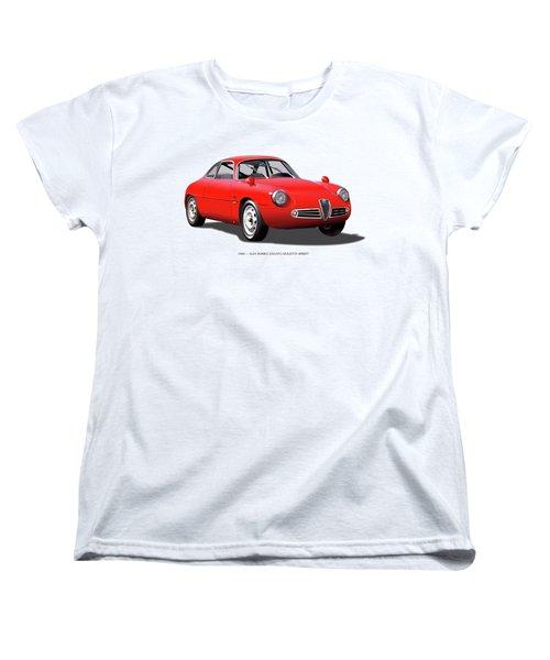 1960 Alfa Romeo Zagato Giulietta Sprint Women's T-Shirt (Standard Cut) by Alain Jamar