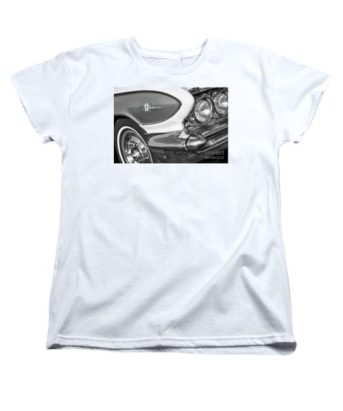 Women's T-Shirt (Standard Cut) featuring the photograph 1961 Le Sabre Monotone by Dennis Hedberg