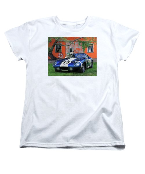 Women's T-Shirt (Standard Cut) featuring the photograph 1964 Cobra Daytona Coupe by Christopher McKenzie