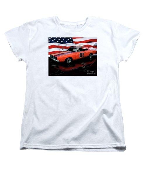 Women's T-Shirt (Standard Cut) featuring the photograph 1969 General Lee by Peter Piatt