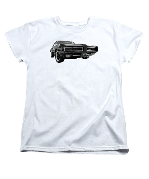 Women's T-Shirt (Standard Cut) featuring the photograph 1969 Pontiac Gto The Goat by Gill Billington