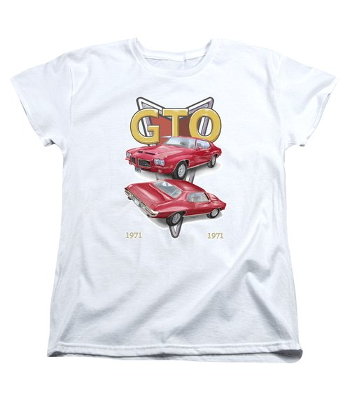 1971 Pontiac Gto Women's T-Shirt (Standard Cut) by Thomas J Herring