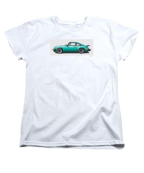 1976 Porsche Euro Carrera 2.7 Illustration Women's T-Shirt (Standard Cut) by Alain Jamar