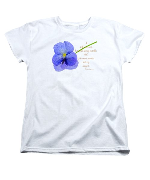 A Soft Answer Women's T-Shirt (Standard Cut) by Larry Bishop
