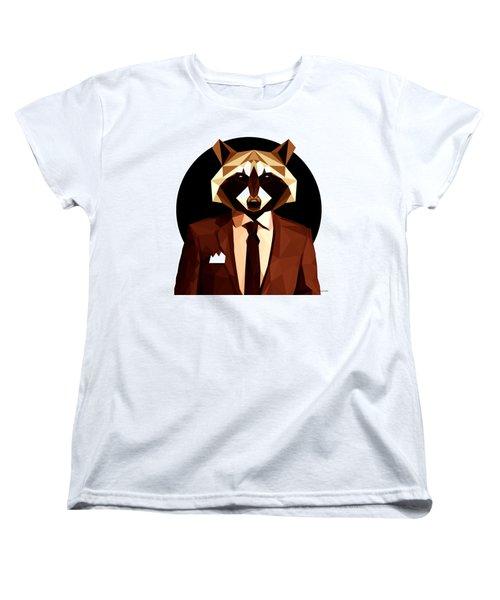 Abstract Geometric Raccoon Women's T-Shirt (Standard Cut) by Gallini Design