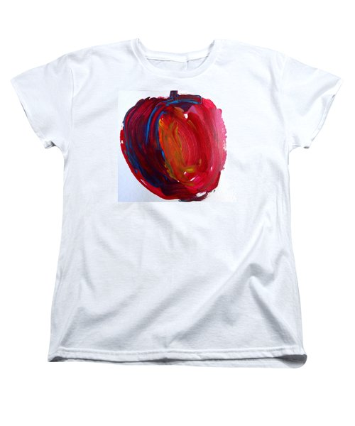 Women's T-Shirt (Standard Cut) featuring the painting Apple by Fred Wilson