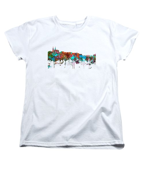 Basle Switzerland Skyline Women's T-Shirt (Standard Cut)