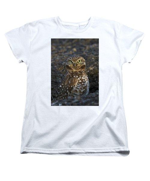 Burrowing Owl Women's T-Shirt (Standard Cut) by Doug Herr