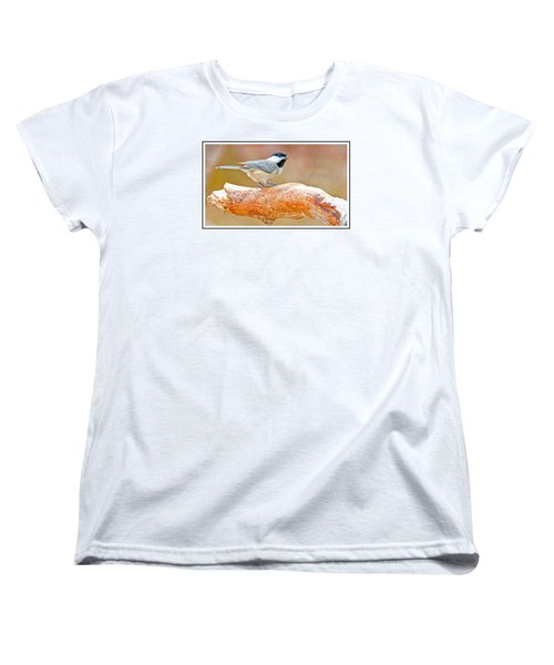 Women's T-Shirt (Standard Cut) featuring the photograph Carolina Chickadee On Tree Limb by A Gurmankin