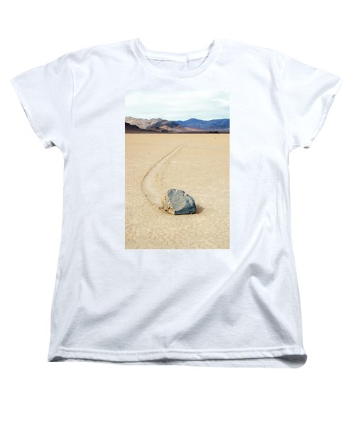 Women's T-Shirt (Standard Cut) featuring the photograph Death Valley Racetrack by Breck Bartholomew