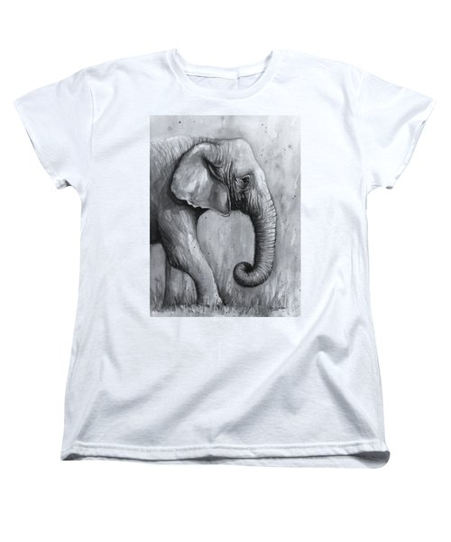Elephant Watercolor Women's T-Shirt (Standard Fit)