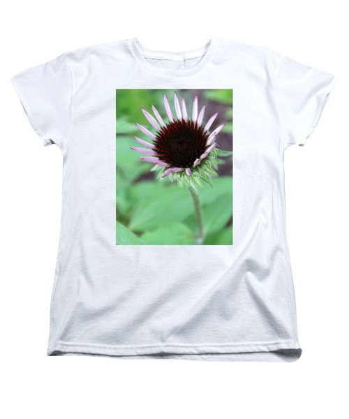 Women's T-Shirt (Standard Cut) featuring the photograph Emerging Coneflower by Rebecca Overton