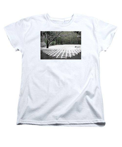 First Snow Fall Women's T-Shirt (Standard Cut) by Vladimir Kholostykh
