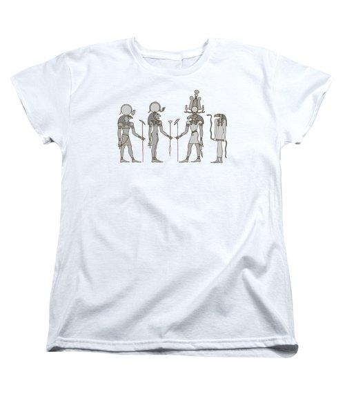 Gods Of Ancient Egypt Women's T-Shirt (Standard Cut) by Michal Boubin