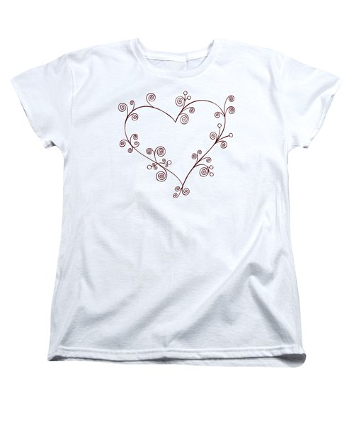 Heart Women's T-Shirt (Standard Cut) by Frank Tschakert