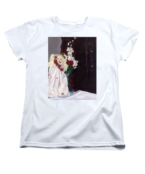 Women's T-Shirt (Standard Cut) featuring the painting Jenessa by Jane Autry