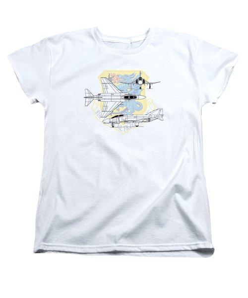 Mcdonnell Douglas F-4d Phantom II Women's T-Shirt (Standard Cut) by Arthur Eggers